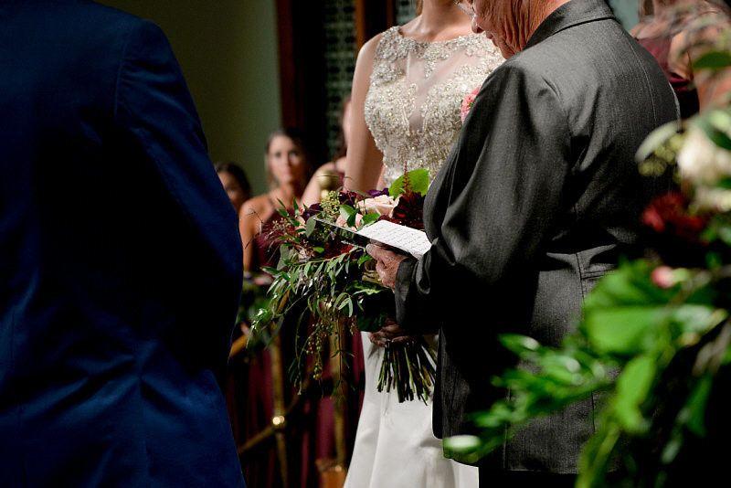 Exchanging vows | Photo by: Digital Galleria Designs