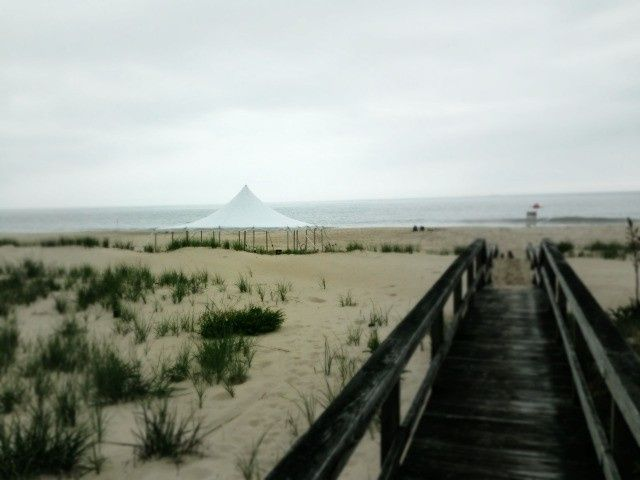 Frame tent at Addy Sea in Bethany