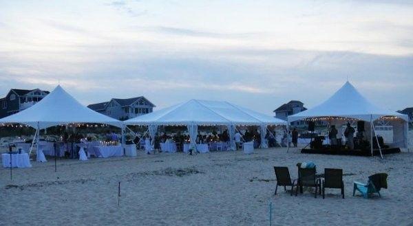 tents beach weddin