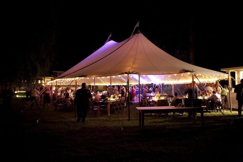 sailcloth tent nigh