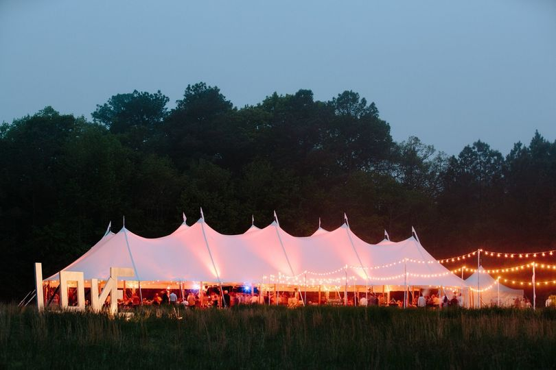 Lighted tents