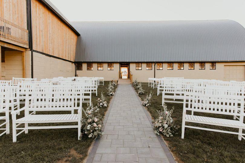 Walkway to ceremony site