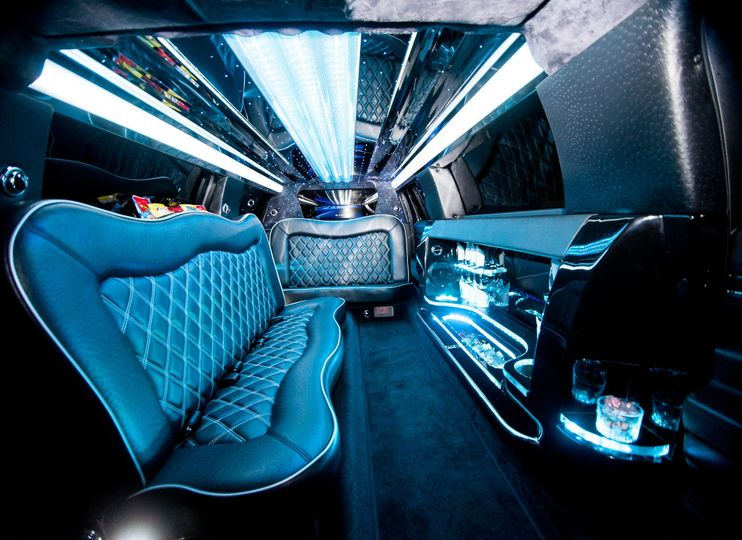 Interior of 8 Passenger Limo