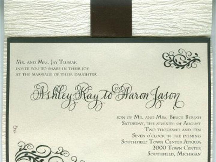 Tmx 1278564946098 Ashleyinside001 Canton, MI wedding invitation
