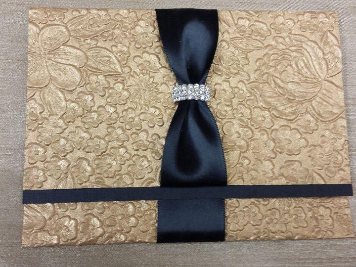 Tmx 1455842254751 Black N Gold Colorbar Canton, MI wedding invitation