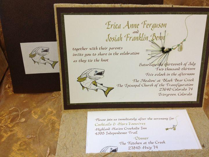 Tmx 1455842490704 Fishermans Invite Canton, MI wedding invitation