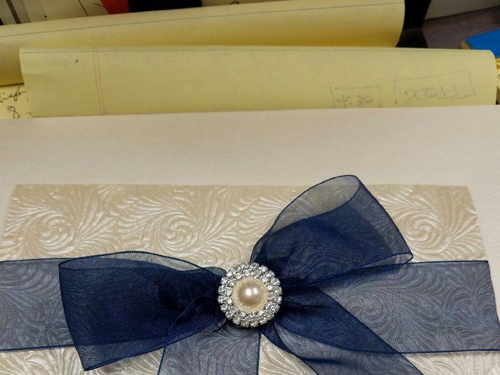 Tmx 1490233921798 Blue Chiffon Canton, MI wedding invitation
