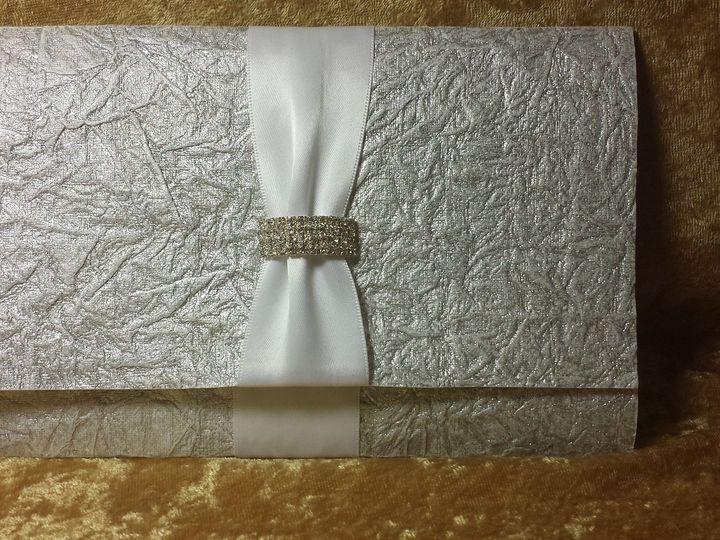 Tmx 1490236958832 Silver Crinkle Canton, MI wedding invitation