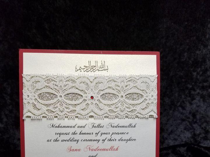 Tmx 1490237039986 Glitter N Lace Canton, MI wedding invitation