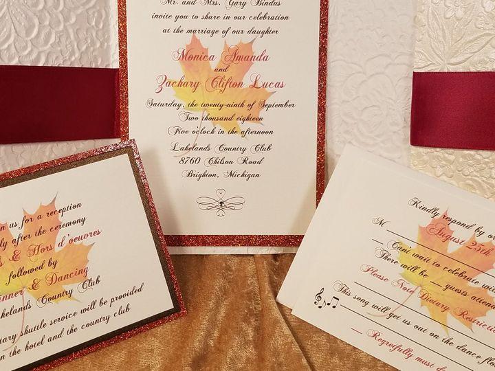 Tmx 1532229819 829aa86e07c96e11 1532229817 Ae848066aaae5bec 1532229770455 5 AUTUMN Inside Canton, MI wedding invitation