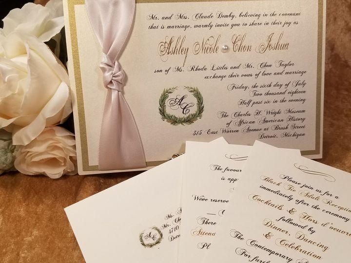 Tmx 1532229819 F4e9566ceff4e428 1532229816 Ac826ec449d7bace 1532229770451 3 Ashley Nicole Canton, MI wedding invitation