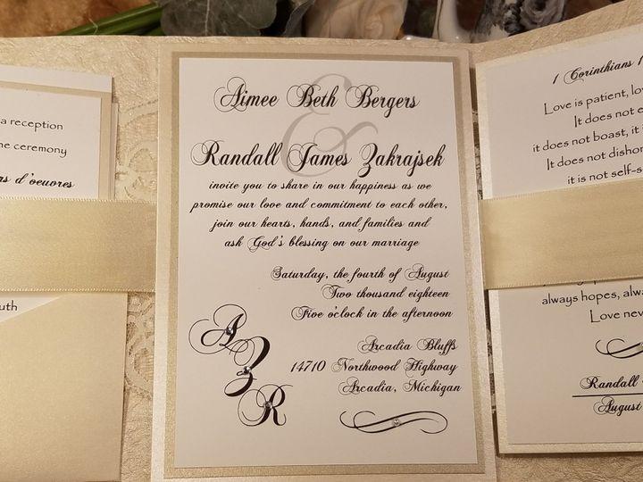 Tmx 1532229869 A21fb6b26c1f37aa 1532229867 436cd8be2e219a61 1532229843896 7 AIMEE Inside Canton, MI wedding invitation