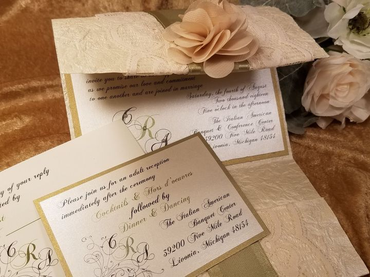 Tmx 1532230175 F4d872b05e30a26c 1532230173 490a4a4bec1c4bb4 1532230126171 11 Crechone Canton, MI wedding invitation
