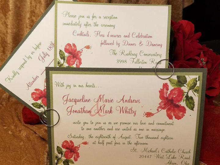 Tmx 1532230978 3d2641322a2ca2db 1532230975 D27c74242ebe5c8e 1532230930060 5 Hawaiian Hibiscus Canton, MI wedding invitation