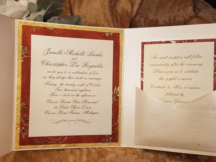 Tmx 1532230978 70243ba2979c2ca6 1532230975 D47db5a2bf5296bf 1532230930060 4 Golden Silk Inside Canton, MI wedding invitation