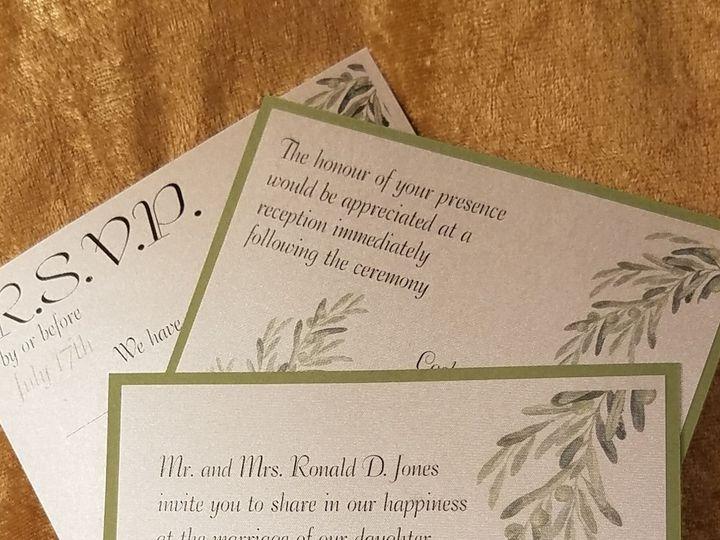 Tmx 1532231372 4fe2e54c3bdd8329 1532231370 8341e06014171f5a 1532231323536 13 Softly Sage Canton, MI wedding invitation