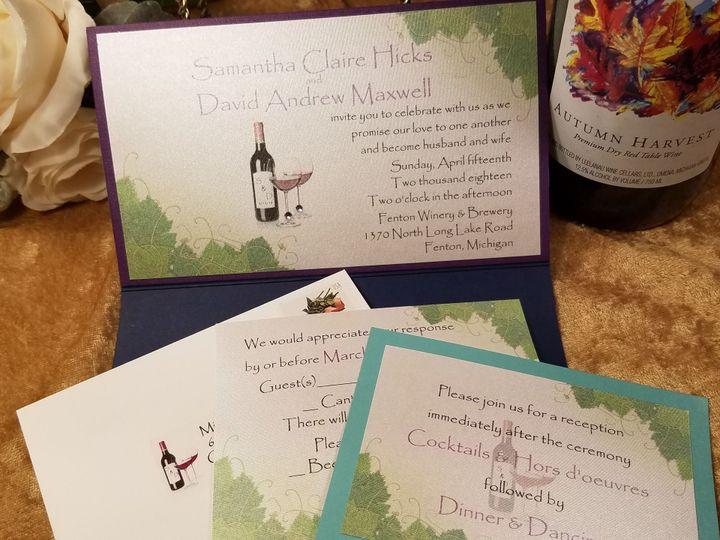 Tmx 1532231374 95ed8f7df3576e44 1532231371 3766ae5c448d3a1b 1532231323542 16 Wine Inside Canton, MI wedding invitation