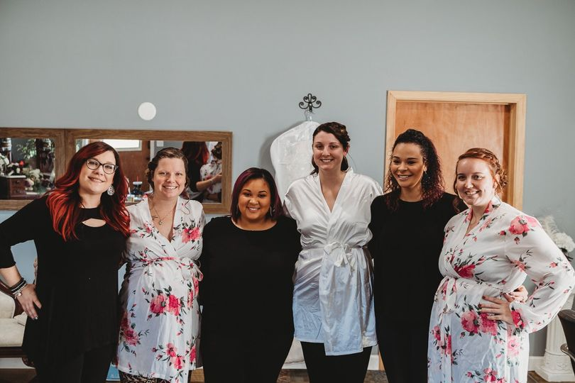 Hair and makeup team