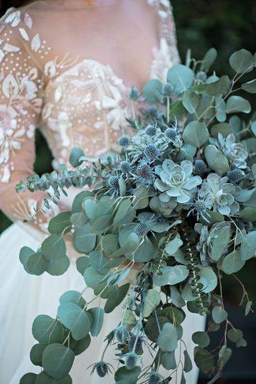 Rustic greenery bouquet