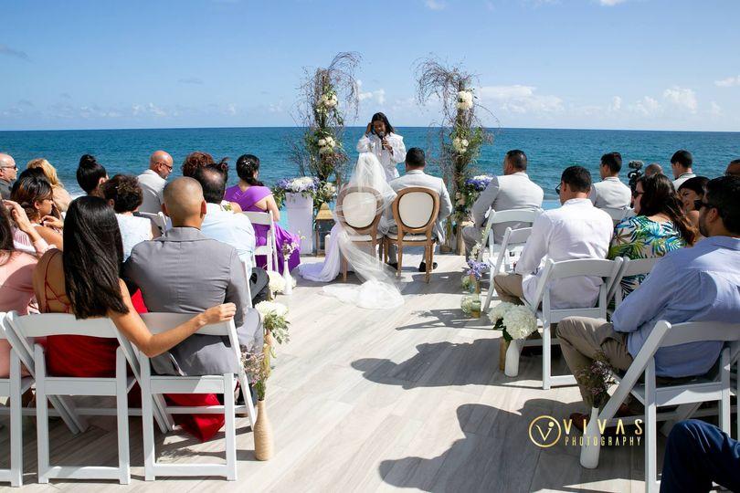 Pool Deck Ceremony Celebtation