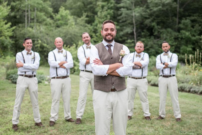 The groom with groomsmen