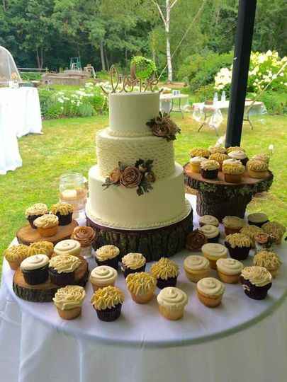 Wedding cake and treats