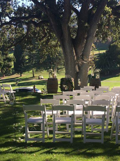 Wedding ceremony setas
