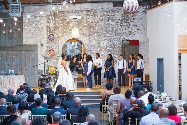 An eclectic location enhanced the vibe of this joyous ceremony