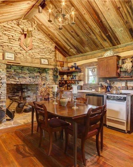 The Log Cabin inside