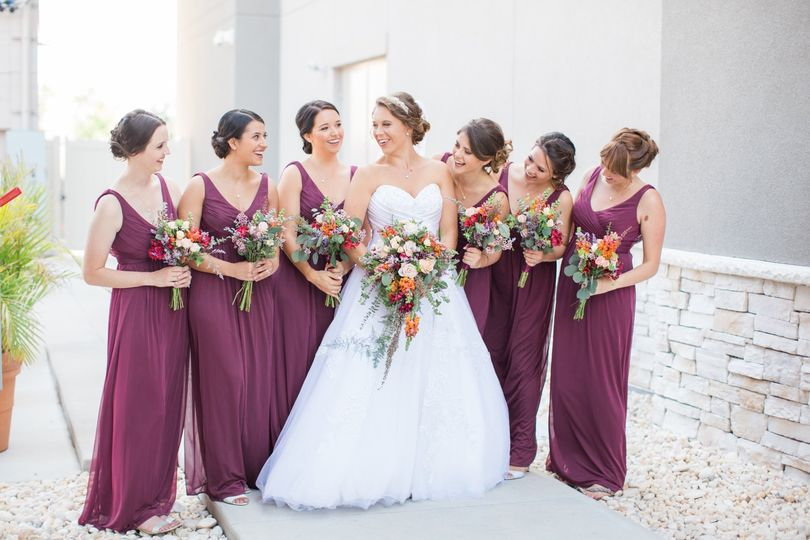 Bridal party prettiness