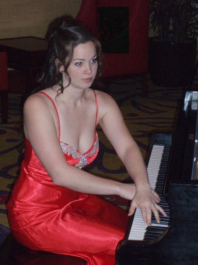Performing for a banquet.