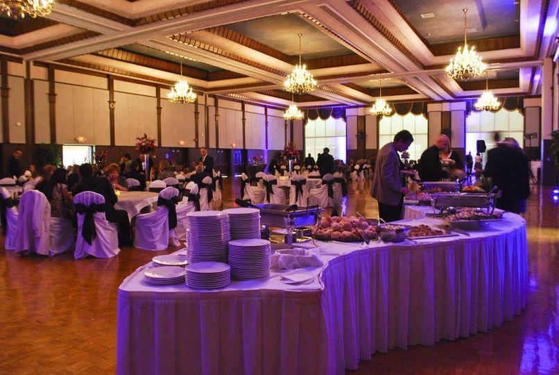 weddingballroombuffet