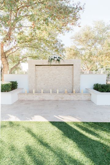 Ceremony space in the sunshine