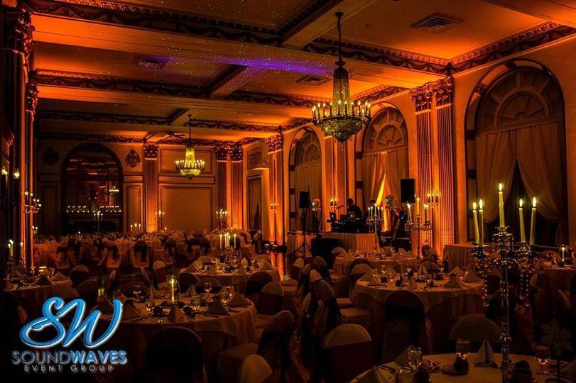ballroom amber lighting