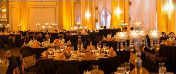 ballroom black linens