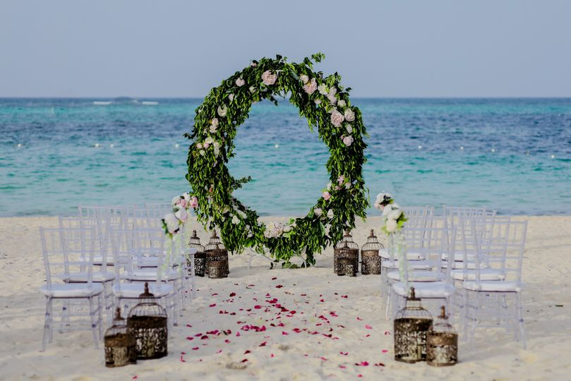 Beach-side wedding