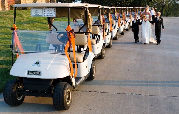 Golf Cart Exit from Ceremony