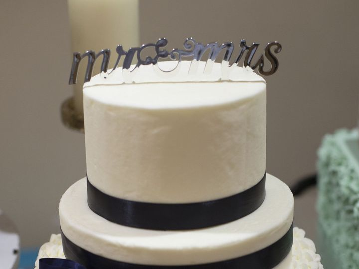 Tmx 1452799127409 3 Tier W Navy Ribbon Ii Tonganoxie wedding catering
