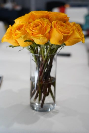 A bloom of color as a centerpiece