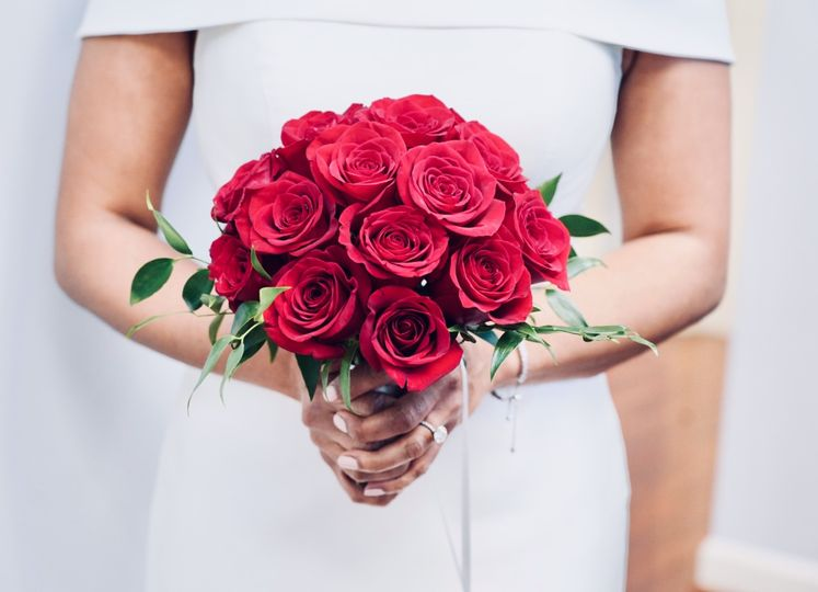 A red bouquet