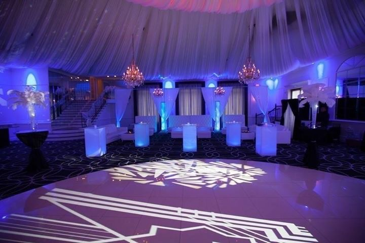 Lounge Furniture and Decor Custom GOBO Pipe and Drape