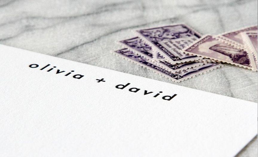 Custom letterpress printed notecards.
