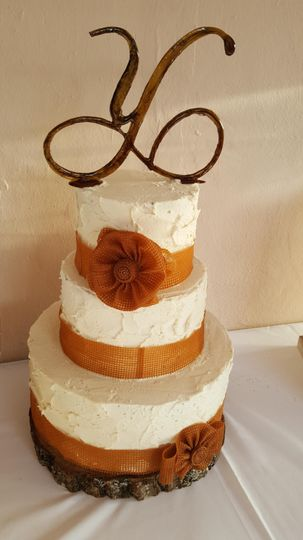 Buttercream with edible lace