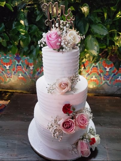 Buttercream with floral design