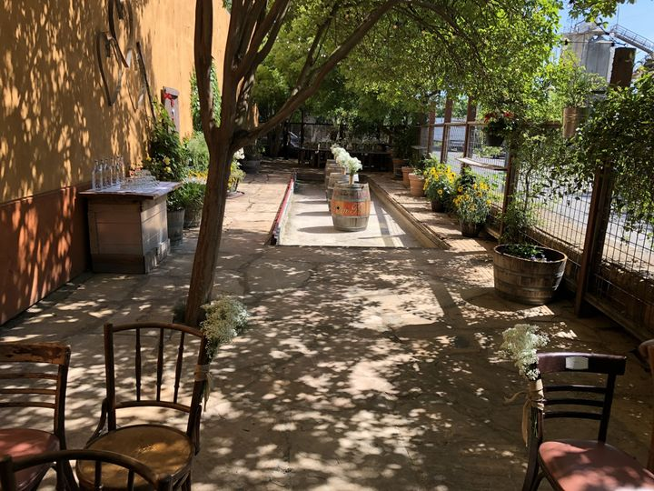 Patio with Bocce Ball Court