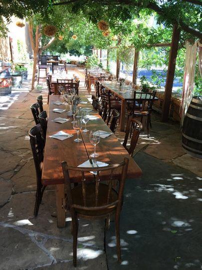Terrazzo Patio with farm table