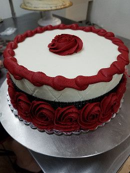 Red and white icing