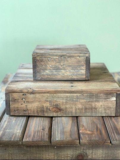 Wooden Box(s) Dessert Stand