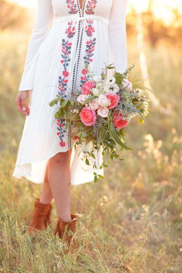 Wild Flowers & Boho Bride Figueroa Mountain, Los Olivos, CA