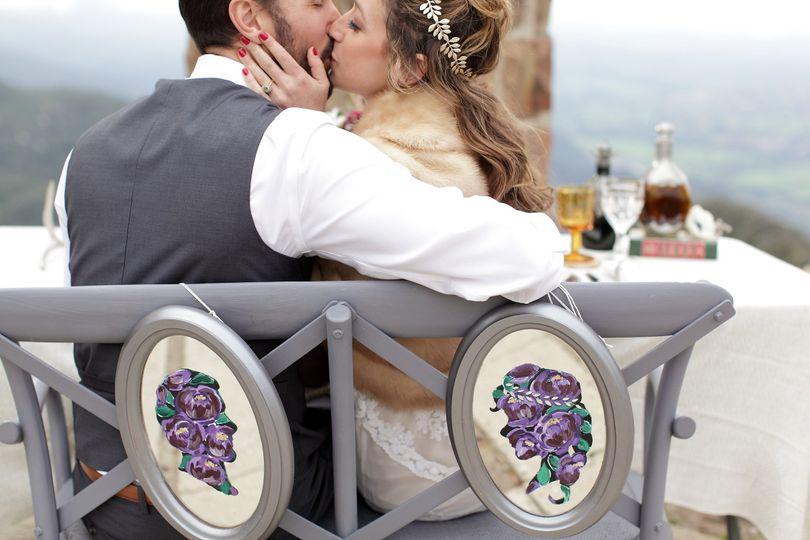 Irish Styled Wedding Sweetheart table -  Santa Barbara, CA
